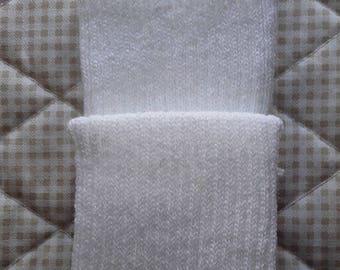 EDGES knit white PoignetsS or bottom of pants-Pack of 2 sides