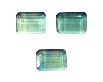 Fluorite Natural Fluorite Emerald Shaped Faceted Cut Stone Approx (8.55 cts Size 10x14 mm) Price per 1 piece (3962)