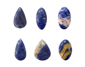 Sodalite Cabochons Natural, Non Heated, Non Treated, Mix Sizes & Shapes Gemstones With Beautiful Inclusion At Wholesale Price
