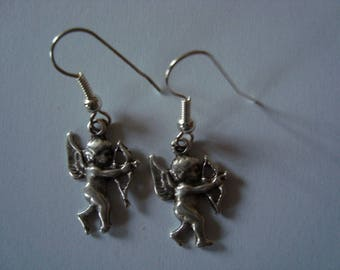 Angel earrings in silver