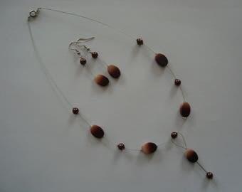 Fancy Brown jewelry set