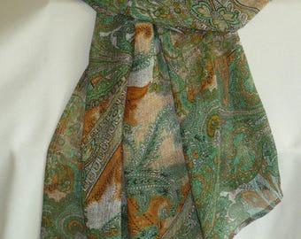 Big shawl printed floral Paisley