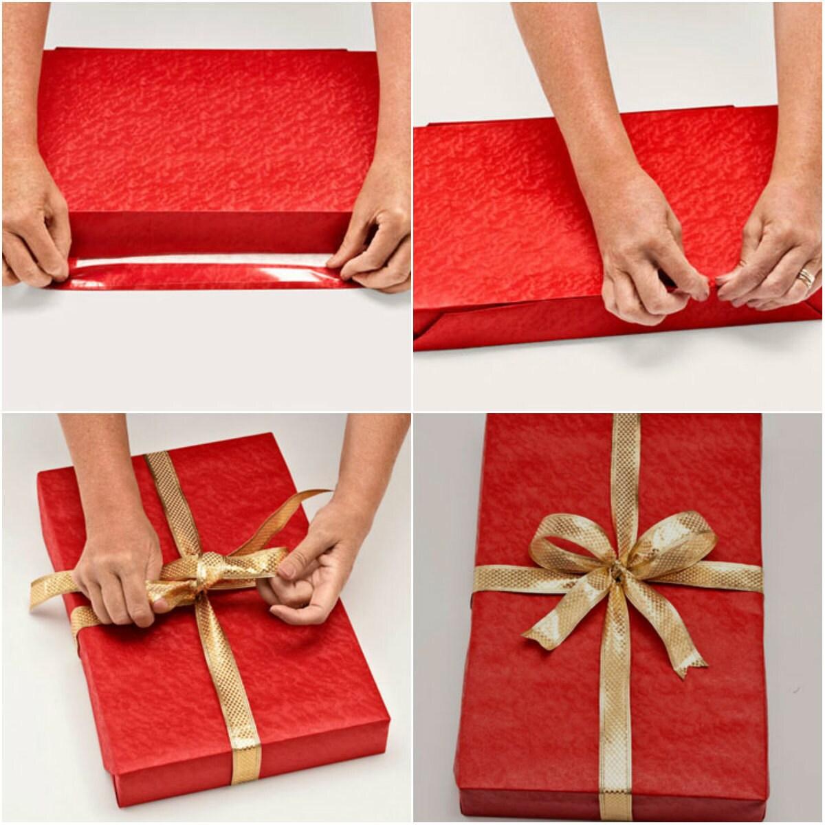 Как завернуть подарок в подарочную 640