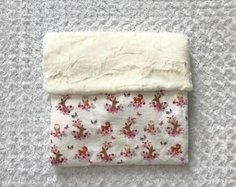 Deer flannel baby girl blanket Personalized; baby girl blanket; pink deer blanket; woodland girl blanket; baby girl woodland  nursery