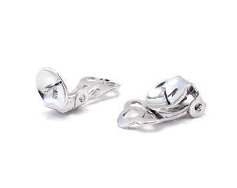 Set of 4 clip on earrings