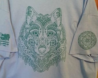 Wolf Head Mandala Shirt