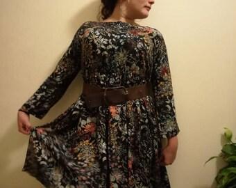 Dress Viscose Floral Motifs
