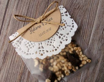 Bag of seeds to sow - invited country theme - wedding gift