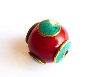 Ppra6 ethnic Tibet Nepal bead