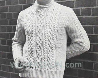 Vintage Mans Aran Sweater