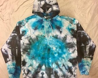 Unisex XL Ice Dyed Hoodie