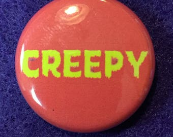 "Creepy magazine comic 1"" logo pinback button"