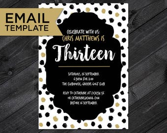 13th birthday invite etsy 13th birthday invitation email invite teenager birthday 13th birthday invitation template 13th stopboris Gallery