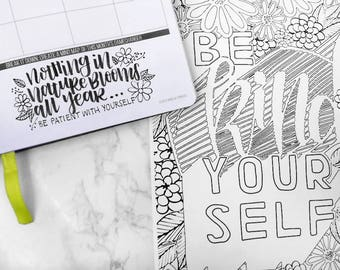 Self Care Coloring Books