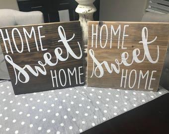 Home Sweet Home Sign- Rustic Wood Sign- Custom Wood Sign