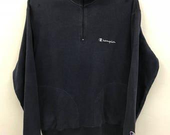 Vintage Champion Zipped Pullover Sweatshirt