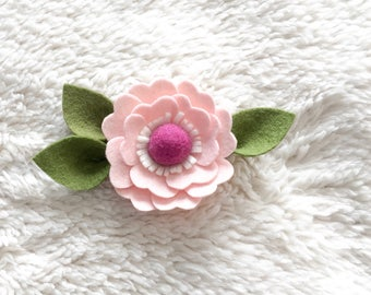 Pink Large Felt Floral Headband