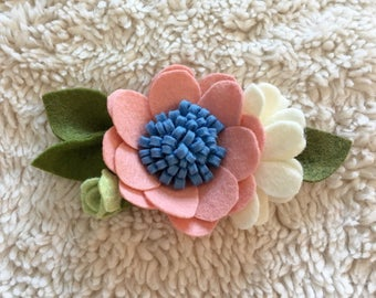 Blush Large Felt Floral Headband
