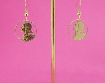 Jewelry earrings ' posts, the coins