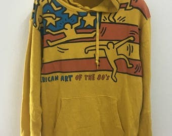 Vintage Keith Haring American Art Of The 80's Hoodies