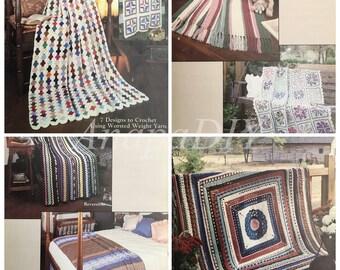 PDF 7 Crochet Scrap Yarn Afghans