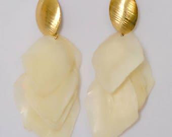 Earrings - White Scales Earrings