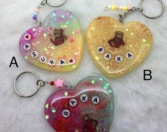 Evangelion Inspired Resin Keychain