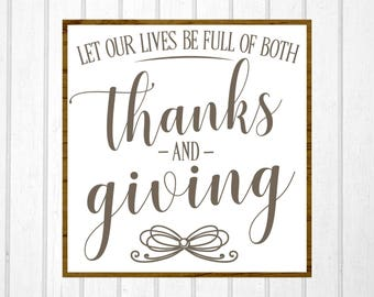 Thanksgiving SVG, Thanksgiving Sign, Fall SVG, Fall Sign, Magnolia Farms, Fixer Upper, Vector, Cut File, Printable, Print, Silhouette Cameo