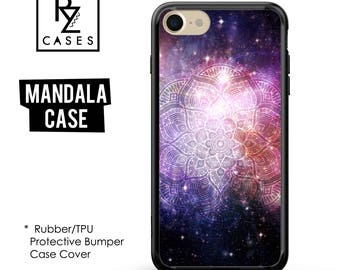 Mandala Phone Case, iPhone 7 Case, Henna case, Mandala Case, iPhone 6s, Space Case, Mandala iphone, iPhone 5, Rubber Case, Bumper