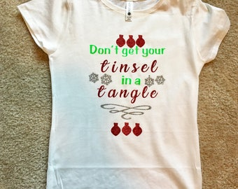 Don't get your tinsel in a tangle shirt!