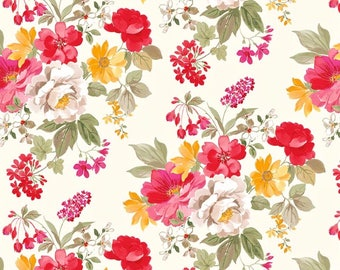 Fabric by the Yard, Floral Fabric by the Yard Cotton Quilting Fabric Floral Quilt Fabric 100% Cotton Fabric Apparel Fabric Cotton Fabric