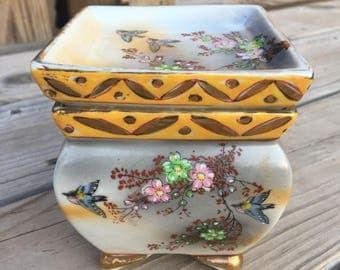 Vintage GoldCastle Porcelain Planter