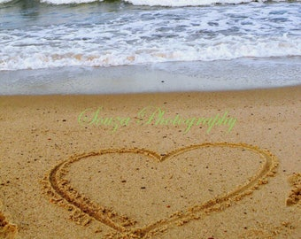 Beach love photo print
