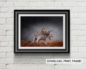 Triceratops print,Dinosaur print,Creatceous Art,Prehistoric Art,Wall Art,Dinosaur poster,Paleontology Decoration, Room Decor,Office decor
