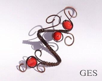 Bracelet / Wire Wrapped Jewelry / Handmade/ Wire Wrapped Bracelet