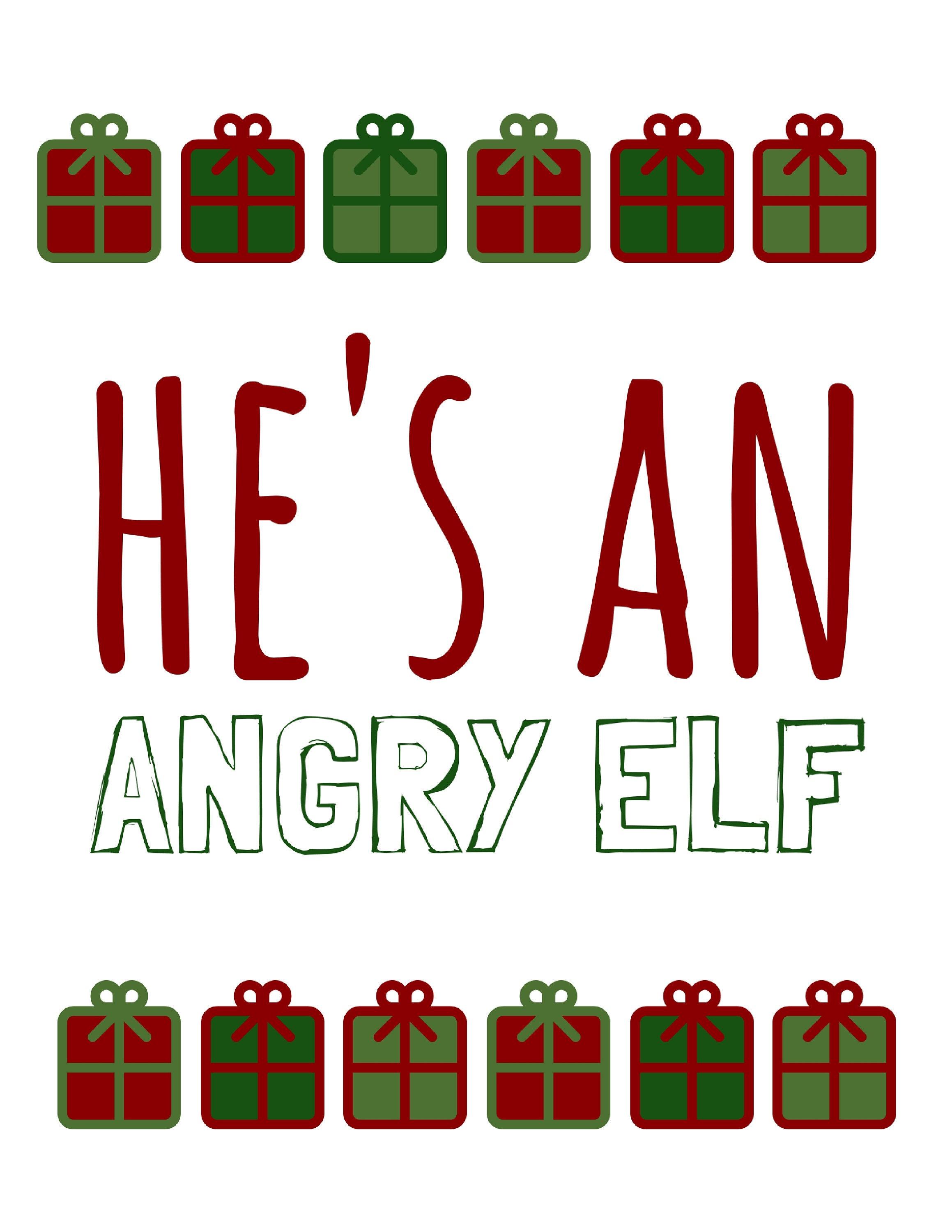 Elf Quotes Adorable Angry Elf  Digital Download Red Green Elf Quotes Printable