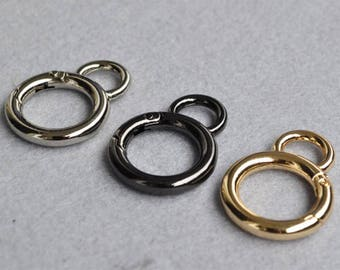 2pcs Spring Ring Clasp Gate Ring Heavy Duty Gate Ring Round Purse Hardware, Connector Clasp PFR013