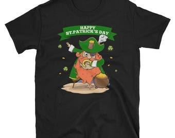 Funny dabbing Pirate St Patricks day shirt - Ireland fans