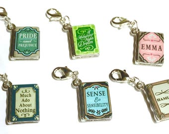 Jane Austen and William Shakespeare Book Charms for Traveler's Notebooks or Planners