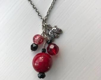 Ladybug Necklace, Necklaces for Women, Ladybug Jewelry, Stainless Steel Necklace, Necklaces for Girls, Ladybug Gifts, Charm Necklace, Gift