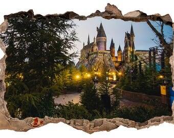 Hogwarts Castle 3D Wall Decal Sticker Vinyl Decor Mural
