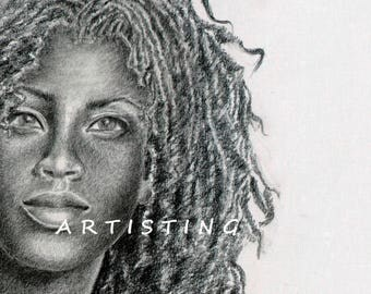 MULATO (METIS) - fine art pencil drawing