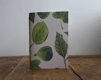 Hand-bound A6 Notebook - Foliage