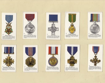 Set of 10 Military Cigarette Cards (107)
