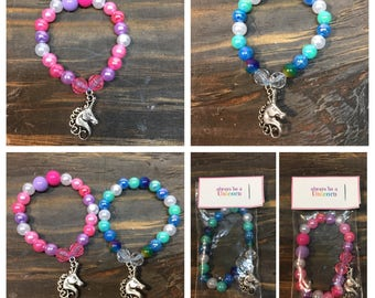 Unicorn party favors.Unicorn bead bracelet.Unicorn charm bracelet.party favors.Unicorn jewelry.Unicorn party bracelet