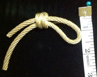 Vintage Signed Christian Dior Rope Knot