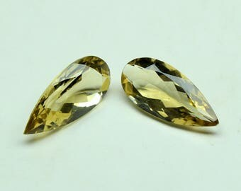 9 Carats AAA Quality Natural Beer Quartz Size 18x8 mm Shape Pear Faceted Jewellery Making Gemstone
