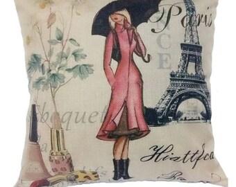 Paris Home Decor pillow cover case