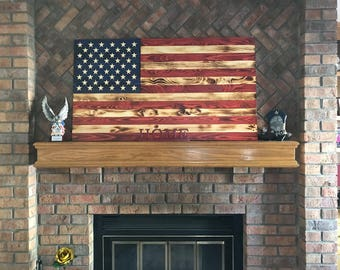 Handcrafted Stained American Flag (wooden)