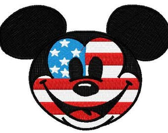 Patriotic Mickey Mouse embroidery design 2